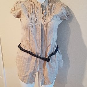 Maurice's top with belt